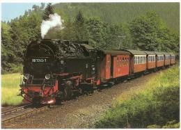 TRAIN Allemagne - EISENBAHN Deutschland - EISFELDER TALMÜHLE HARZTOR - DR, Schmalspurdampflokomotive 99 7240-7 - Trains