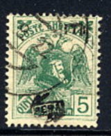 ALBANIA 1922 Skanderbeg & Eagle With Control Overprint II On 5 Q..used.  Michel 77 II - Albania