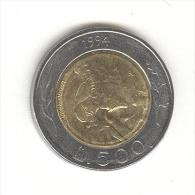 500 Lires Saint Marin / San Marino Bi-métallique / Bimetalic 1994 - Saint-Marin