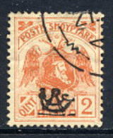ALBANIA 1920 Skanderbeg & Eagle With Control Overprint I On 2 Q. Used.  Michel 76 I - Albania