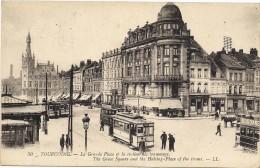 Tourcoing - La Grande Place Et La Station Des Tramways - Tourcoing