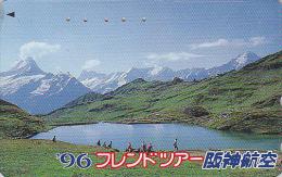 Télécarte Japon - SUISSE - LAC DE MONTAGNE - MOUNTAIN LAKE Japan Phonecard SWITZERLAND SCHWEIZ  Site HANSHIN AIRLINES 41 - Montagnes