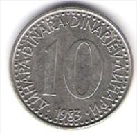 Jugoslawien 10 Dinara K-N-Zk 1983 Schön Nr.86 / KM 89 - Jugoslawien