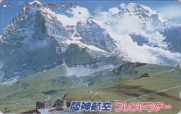Télécarte Japon - SUISSE -  MONTAGNE / ALPES - MOUNTAIN  Japan Phonecard SWITZERLAND SCHWEIZ - Site HANSHIN AIRLINES 43 - Montagnes