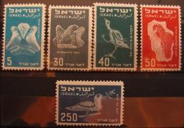 Israél Aérien 1950 - YT 1/4 + N° 6 - Neuf** Sans Charnière Sauf N°1 Avec Charnière - Ungebraucht (ohne Tabs)