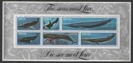 South West Africa (1980) Yv. Bf. 5  /  Baleines - Ballenas - Whales - Walvissen