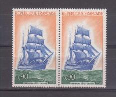 """FRANCE / 1972 / Y&T N° 1717 ** (2 TP En Paire) : Trois-mats """"Cote D´émeraude"""" - Gomme D´origine Intacte - Neufs"""