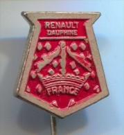 RENAULT Dauphine - Car, Automobile, Old Pin, Badge - Renault