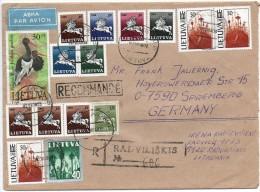 Litauen,Lithuania,Reco-Br ief, Bedarfspost 1992 Radviliskis