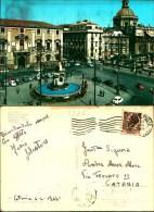 2787) CARTOLINA DI CATANIA -ETNA- PIAZA DUOMO-VIAGGATA