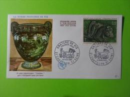 FDC 1966 Premier Jour Chatillon-Sur-Seine La Tombe Princière De Vix Le Plus Gigantesque Cratère Que L'Antiquité Nous Ait - FDC