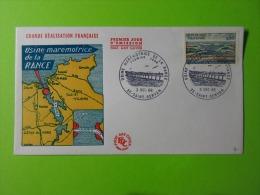 FDC 1966 Premier Jour Saint-Servan Usine Marémotrice De La Rance Rocher Du Chalibert - FDC
