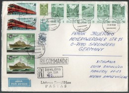 Litauen,Lithuania,Reco-Br ief, Bedarfspost 1991 Radviliskis,USSR Franking