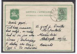 Litauen,Lithuania,Postal stationary card, used 1936 Mazeikiai,Moscheiken