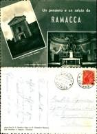 4433) CARTOLINA DI  RAMACCA- CHIESA DEL CONVENTO-ALTARE MAGGIORE CHIESA MADRE-VIAGGIATA