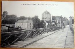 Cpa LA ROCHE POSAY 86 L' Eglise, Le Donjon Et Le Pont - Autres Communes