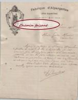 Beau Document  Du 06/02/1906 LACOUTURE Fabrique D´alpargattes (espadrilles)- Bayonne - 64 Pyrénées-atlantiques - 1900 – 1949