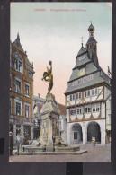 Giessen Kriegerdenkmal mit Rathaus  Feldpost  1915