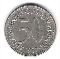 Jugoslawien 50 Dinara K-N-Zk 1987 Schön Nr.88 / KM 113 - Yougoslavie