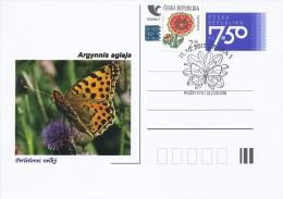Czech Rep. / Postal Stat. (Pre2006/04cp) Czech Butterfiles: Argynnis Aglaja - Commemorative Postmarks (2011 - Praha 1) - Vlinders