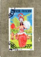POLYNESIE Frse :  Danseuse De Tahiti - Folklore - Tradition - Patrimoine - Danse - - Poste Aérienne