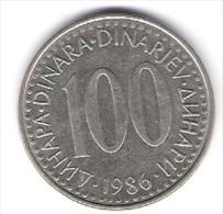 Jugoslawien 100 Dinara K-N-Zk 1986 Schön Nr.89 / KM 114 - Yougoslavie