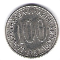 Jugoslawien 100 Dinara K-N-Zk 1987 Schön Nr.89 / KM 114 - Joegoslavië