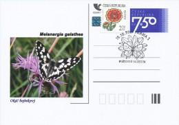 Czech Rep. / Postal Stat. (Pre2006/06cp) Czech Butterfiles: Melanargia Galathea - Commemorative Postmarks (2011 Praha 1) - Czech Republic