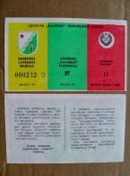 Sport Lottery Ticket From Lithuania, Ussr Soviet Occupation Period Zalgiris Stadium 1rbl. - Billets De Loterie