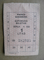 transport bus ticket from Lithuania 1litas, mint was not used
