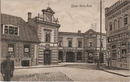 AK Liepaja Libau Hotel de Rome Rom Cafe Kurland Lettland Latvia bei Riga Feldpost Stempel Marine Sperrkompagnie