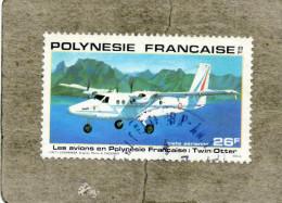 "POLYNESIE Frse :  Avions En Polynésie : ""Twin Otter"" - De Havilland Canada  - Transport - - Poste Aérienne"