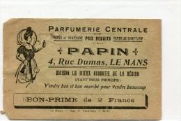 PARFUMERIE CENTRALE PAPIN 4 RUE DUMAS LE MANS - Advertising