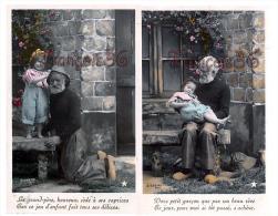 Série / Lot De 2 CPA  : Grandpère Grand Père Et Petit Garçon Qui Jouent - Stebbing - Grandfather Playing With Young Boy - Children