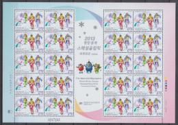 South Korea KPCC2298 Pyeongchang Special Olympics World Winter Games, Mascot, Snow Shoeing, Full Sheet - Winter 2018: Pyeongchang
