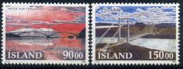 ISLANDE 1993 N° YVERT 735/736 LUXE ** - 1944-... Repubblica