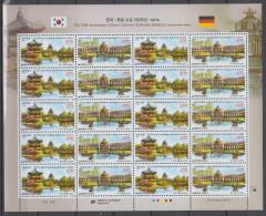 South Korea KPCC2324-5 Korea-Germany Joint Issue, Emission Commune, Architecture, Palace, Palais, Temple Du Soleil, F/S - Architecture