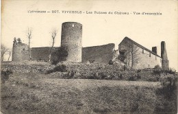 Viverols- Les Ruines Du Château- Vue D'ensemble - France