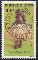 Ivory Coast, Scott #684 Used Masked Dancer, 1983 - Ivory Coast (1960-...)