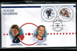 CANADA, 2000, OFDC # 1838 A-f, NHL ALL STARS - 1991-2000