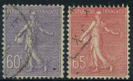 France : Semeuse Lignée N° 200 à 201 Oblitérés Année 1924 - 1903-60 Semeuse Lignée