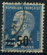France : Pasteur N° 222 Oblitéré Année 1926 - 1922-26 Pasteur