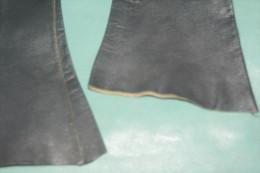 GANTS LONGS CUIR NOIR RETRO  FEMME De Marque LIONEL LE GRAND  Taille 6 3/4 - Designermode