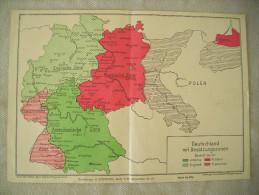 1945 / CARTE OCCUPATION ALLEMAGNE VAINCUE