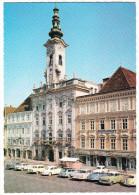 Steyr A.d. Enns: OPEL OLYMPIA REKORD & P2, DKW 3=6 & JUNIOR,MERCEDES HECK, FORD ANGLIA, AUSTIN A40 II, VW 1200 - Rathaus - Toerisme