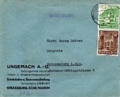 Càd De Strassburg Els 2 Du 29/3/1941 - Utilisations Des Timbres Secours D´huver 3 & 5 Pfg  Tarif Imprimé TTB - Guerre De 1939-45