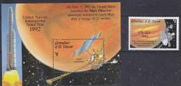 Grenadines Of St. Vincent 1992 UN-ISY Space 1v   + M/s ** Mnh (18327) - St.-Vincent En De Grenadines
