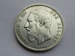 Belgique 5 Francs, 1869 - 1865-1909: Leopoldo II