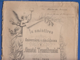 Rumänien; Romania; Revista Gazeta Transilvaniei; 1888; 50 Järige Jubileum; 28 Seiten - Bücher, Zeitschriften, Comics