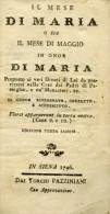 LR 30 - ANTICO LIBRO RELIGIOSO - IL MESE DI MARIA - SIENA 1796